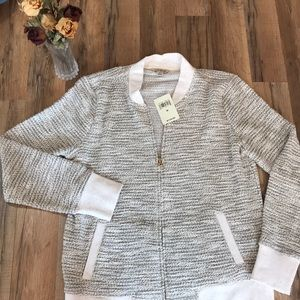 Lucky Brand Shimmer Long Sleeve Sweater Size M